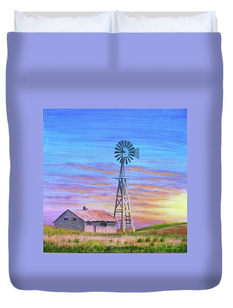 Sioux County Sunrise Duvet Cover by J W Kelly