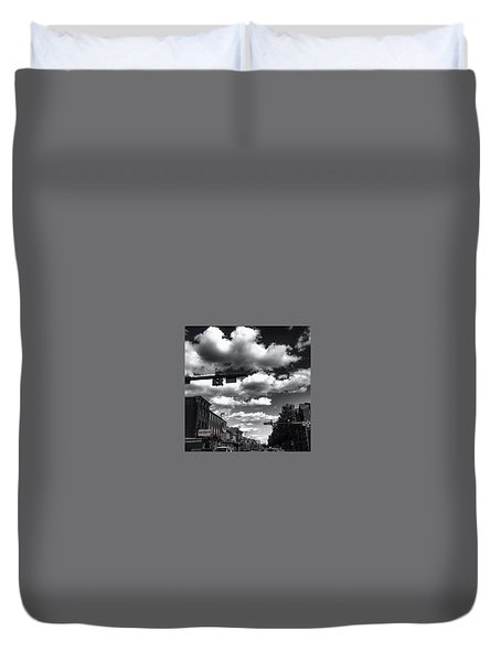 Duvet Cover featuring the photograph Sip And Bite by Toni Martsoukos
