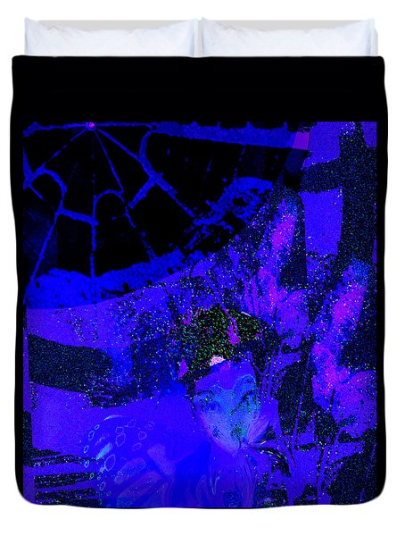 Sipping Ultra Violet Duvet Cover