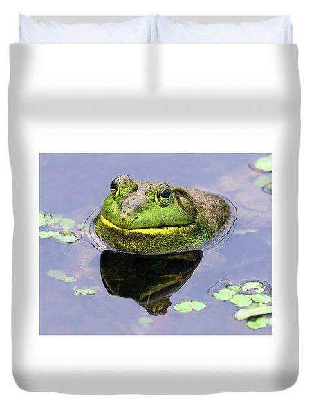 Sir Bull Frog Duvet Cover
