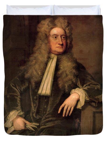 Sir Isaac Newton  Duvet Cover by Sir Godfrey Kneller