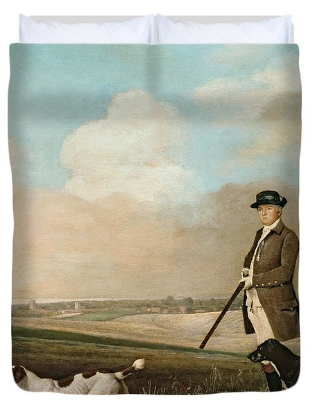 Sir John Nelthorpe Duvet Cover by George Stubbs