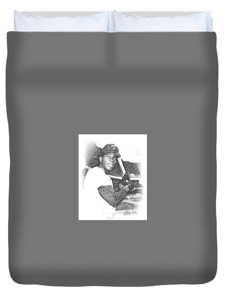 Rod Carew Duvet Cover