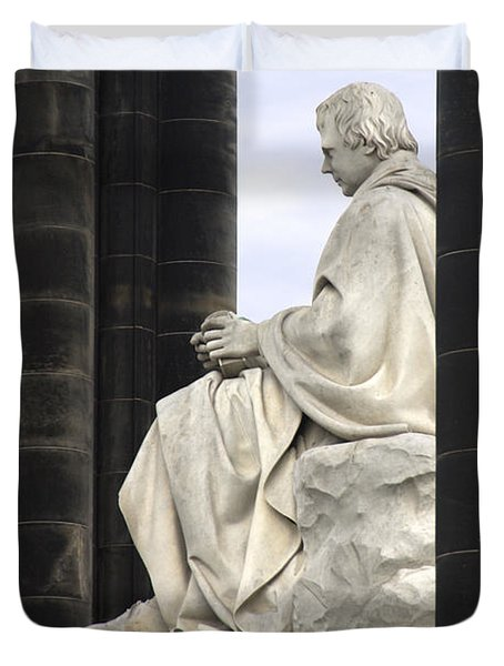 Sir Walter Scott Statue Duvet Cover by Mike McGlothlen