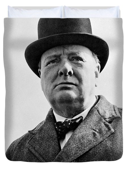 Sir Winston Churchill Duvet Cover