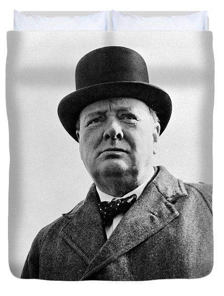 Sir Winston Churchill Duvet Cover