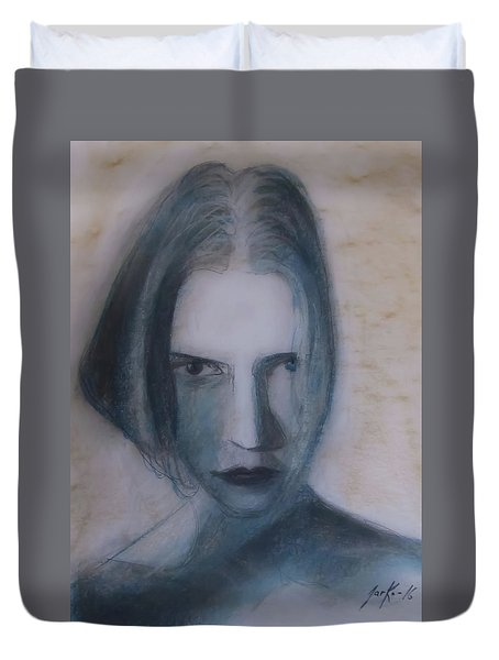 Siren From The Deep Duvet Cover by Jarko Aka Lui Grande