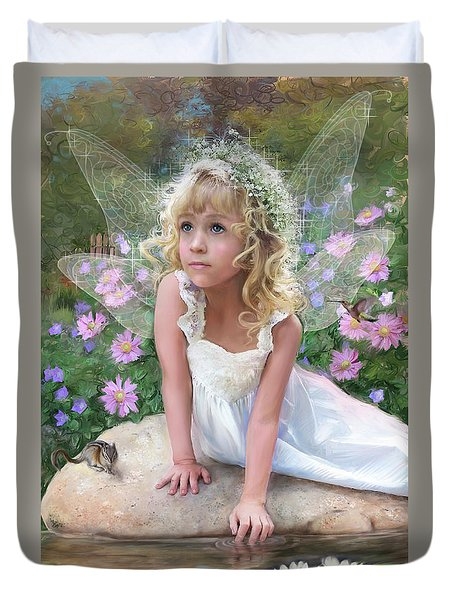 Sissy Fairy Duvet Cover by Rob Corsetti