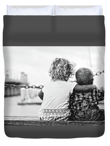 Sister And Brother Duvet Cover