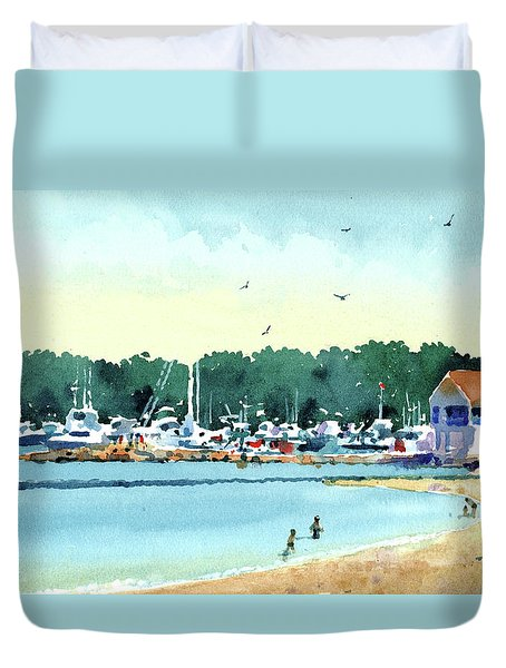 Sister Bay, Door County Duvet Cover