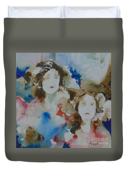 Sisters Duvet Cover by Donna Acheson-Juillet