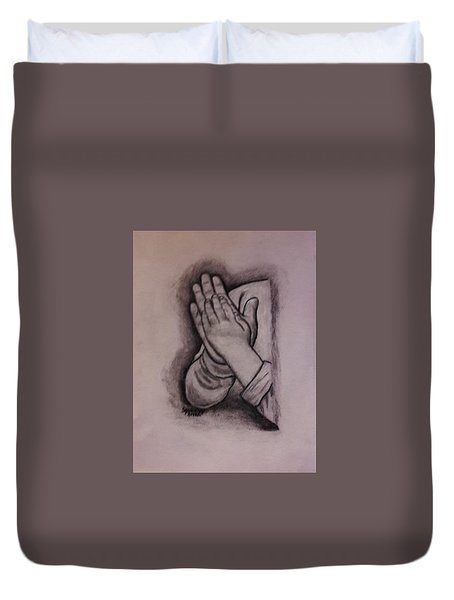 Sisters' Hands Duvet Cover by Christy Saunders Church