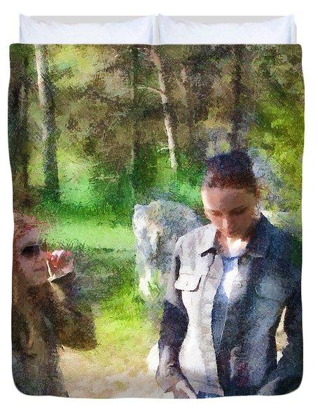 Sisters Duvet Cover by Jeffrey Kolker