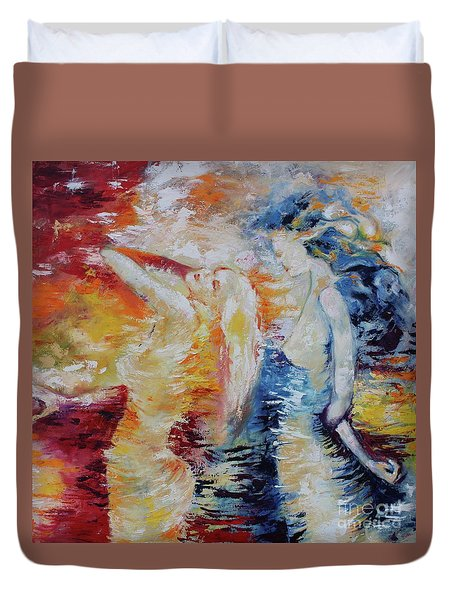 Sisters Duvet Cover by Marat Essex