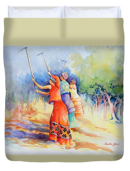 Sisters Of Earth Duvet Cover