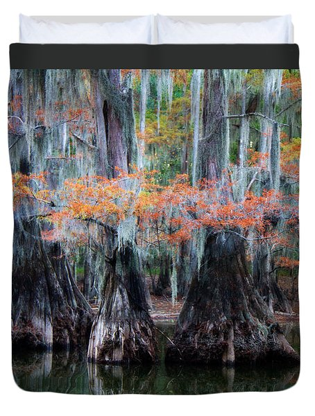 Sisters Wading Duvet Cover by Lana Trussell