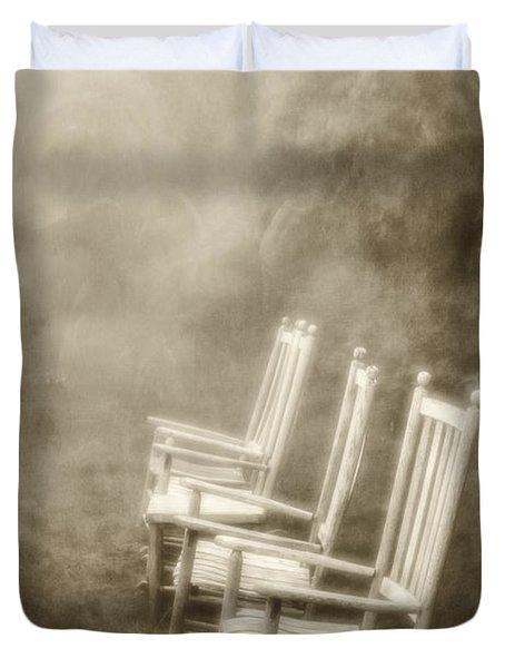 Sit A Spell-sepia Duvet Cover
