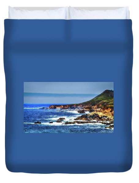 Sit And Stare Beach Duvet Cover by Joseph Hollingsworth