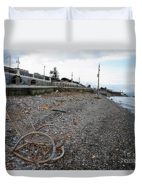 Sit Back And Enjoy The Sea Duvet Cover