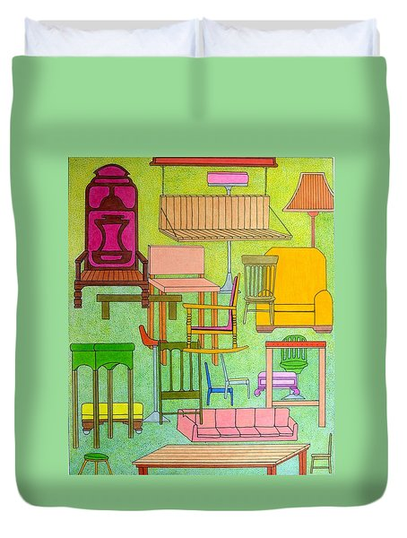 Sit Down Duvet Cover