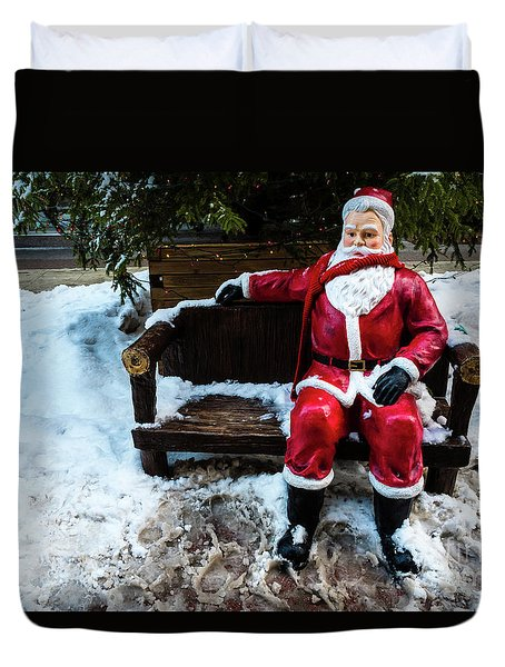 Sit With Santa Duvet Cover