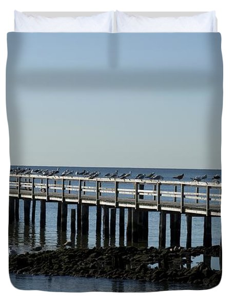 Sittin' On The Dock By The Bay Duvet Cover