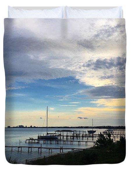 Sittin' On The Dock Of The Bay Duvet Cover