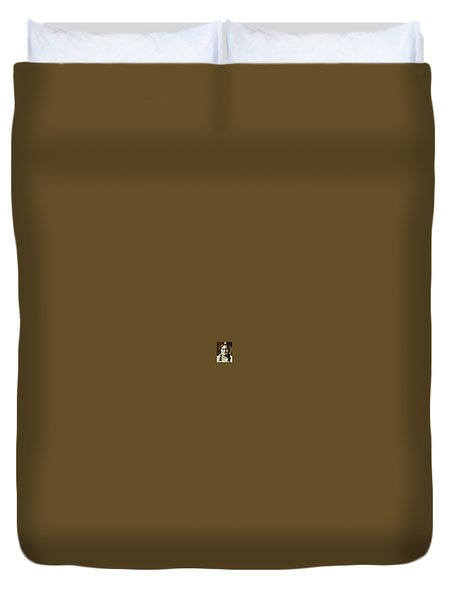 Sitting Bull Duvet Cover by Kevin Heaney