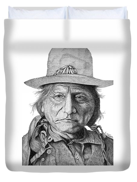 Sitting Bull Duvet Cover
