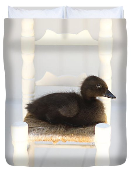 Sitting Duck Duvet Cover by Amy Tyler
