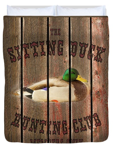 Sitting Duck Hunting Club Duvet Cover