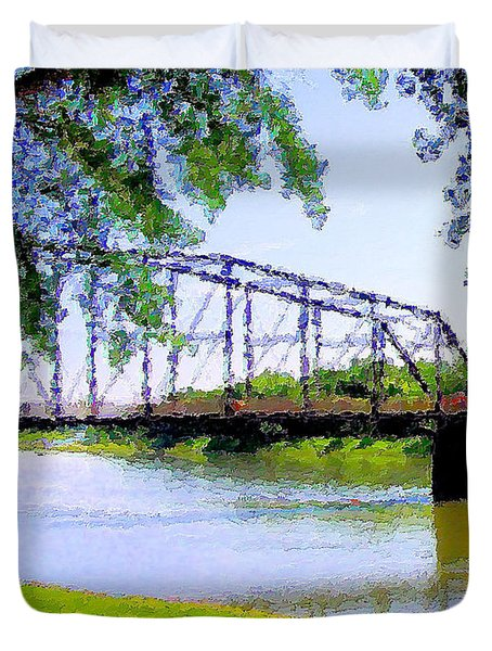 Duvet Cover featuring the photograph Sitting In Fort Benton by Susan Kinney