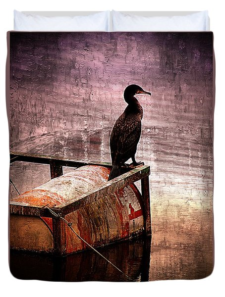 Sitting On The Dock Of The Bay Duvet Cover by Clare Bevan