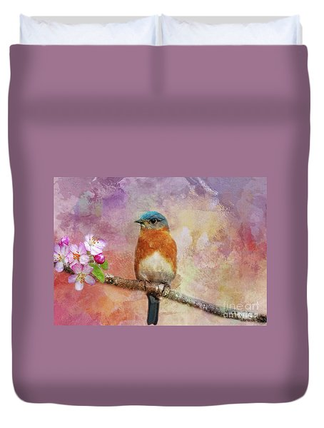 Sitting Pretty Duvet Cover by Geraldine DeBoer