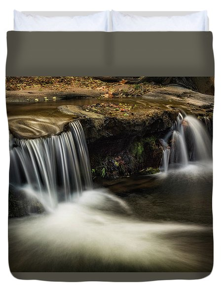 Duvet Cover featuring the photograph Sitting Under The Waterfall  by Saija Lehtonen
