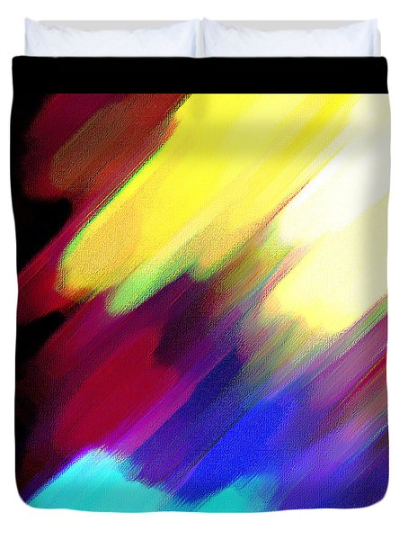 Duvet Cover featuring the painting Sivilia 1 Abstract by Donna Corless