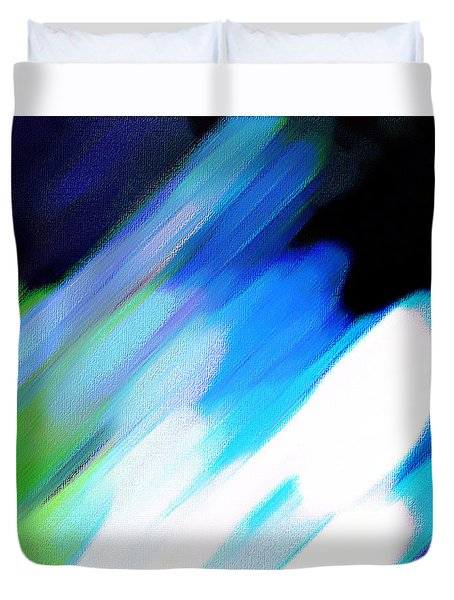 Duvet Cover featuring the painting Sivilia 10 Abstract by Donna Corless