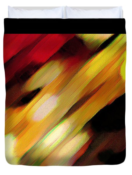 Duvet Cover featuring the painting Sivilia 11 Abstract by Donna Corless