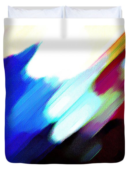 Duvet Cover featuring the painting Sivilia 12 Abstract by Donna Corless