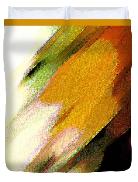 Duvet Cover featuring the painting Sivilia 2 Abstract by Donna Corless