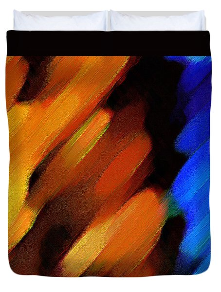 Duvet Cover featuring the painting Sivilia 3 Abstract by Donna Corless