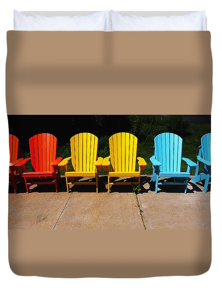 Six Chairs Duvet Cover