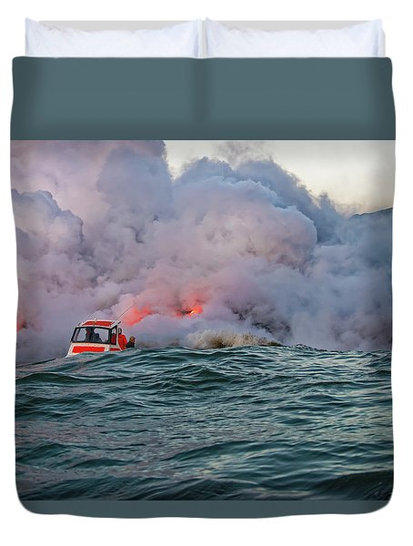 Duvet Cover featuring the photograph Six Pac by Jim Thompson