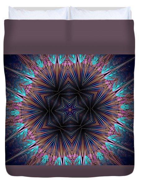 Six Petal Star Kaleidoscope Duvet Cover