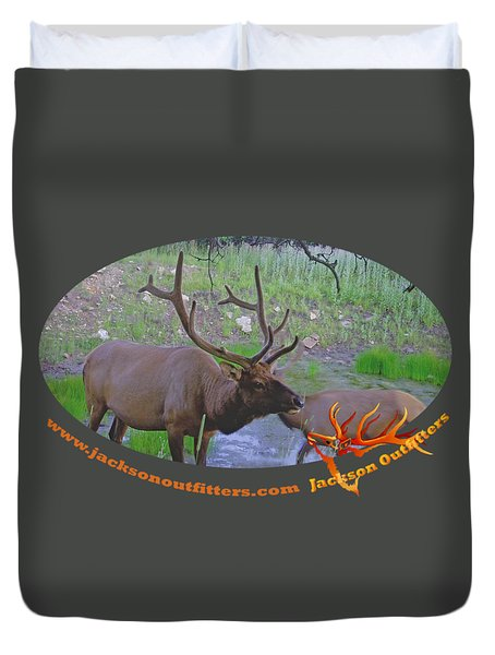 Six Point Bull Elk In Colorado Duvet Cover
