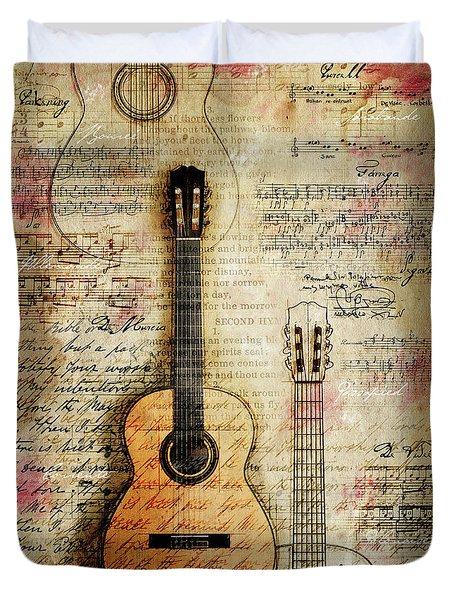 Six String Sages Duvet Cover