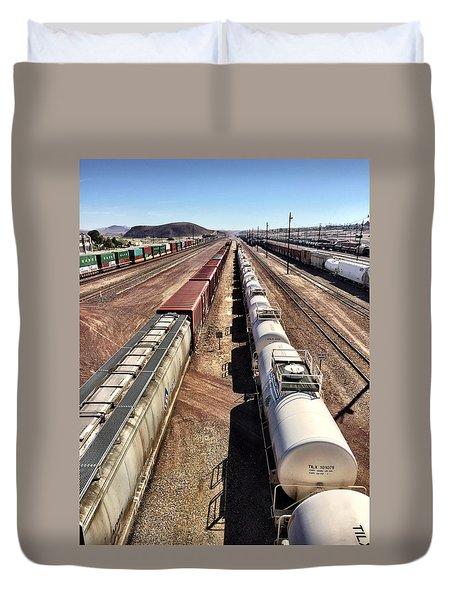 Six Trains Duvet Cover
