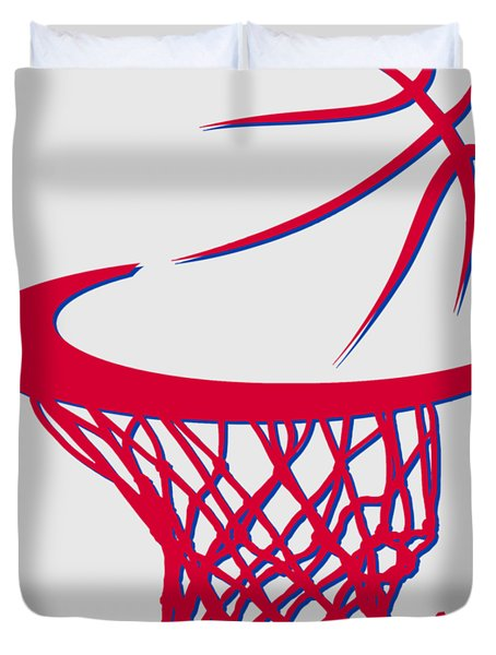Sixers Basketball Hoop Duvet Cover