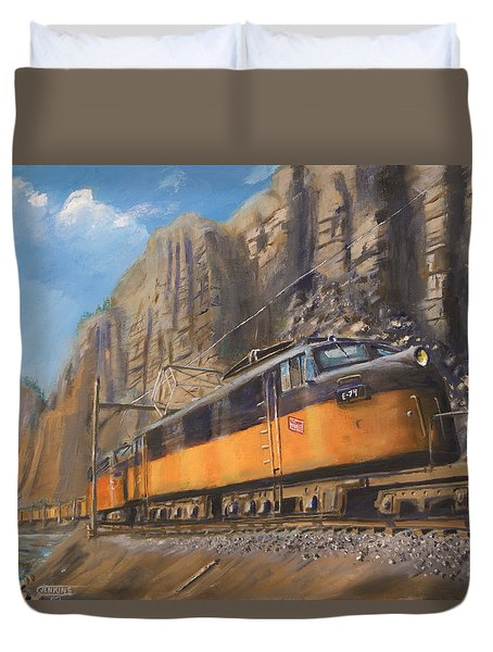 Sixteen Mile Canyon Duvet Cover by Christopher Jenkins
