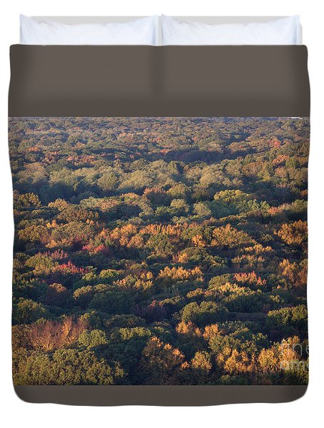 Sixteen Stories Up In Autumn Duvet Cover